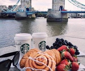 food, coffee, and starbucks image