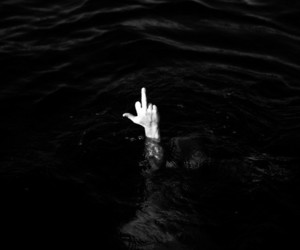 black&white, hands, and water image