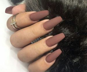 nails, brown, and Nude image