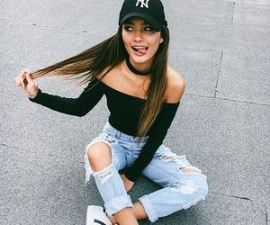 girl, fashion, and adidas image