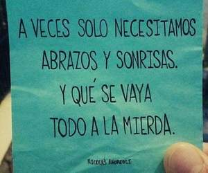 frases, abrazos, and sonrisas image