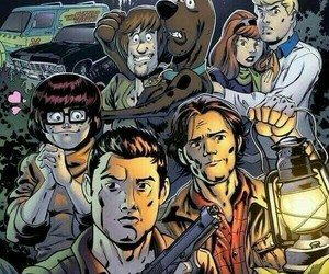 supernatural, scooby doo, and dean image