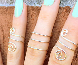 etsy, gift, and rings image