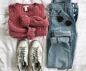 accessories, glasses, and jeans image