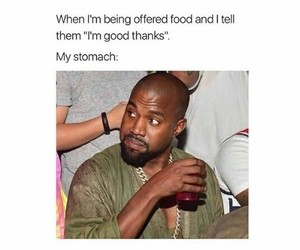 meme, funny, and hungry image
