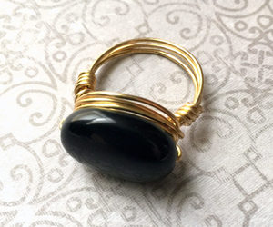 accessories, metaphysical, and black jewelry image