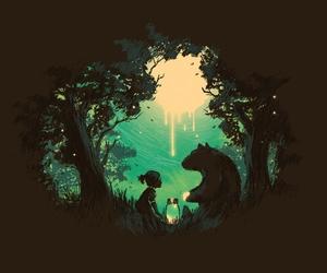 bear, child, and girl image