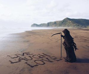 funny, beach, and reaper image
