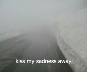 sadness, kiss, and sad image