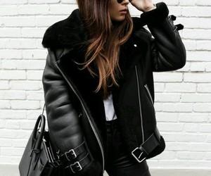 black, giacca, and nero image