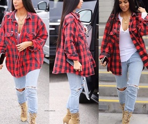 jeans, long hair, and yeezy image