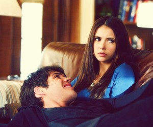 the vampire diaries, Nina Dobrev, and elena gilbert image