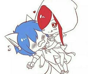 anime, chibi, and couple image