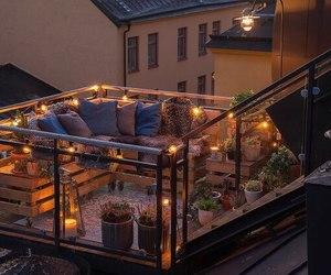 atmosphere, balcony, and cozy image