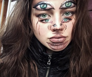 art, face painting, and girl image