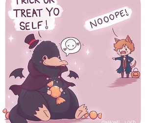 Halloween, trick or treat, and fantastic beasts image