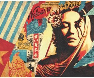 art, contemporary art, and shepard fairey image
