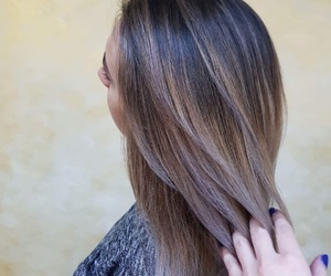 blonde, hairstyle, and ombre hair image