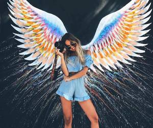 girl, wings, and style image