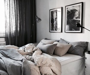 bedroom, interior design, and rooms image