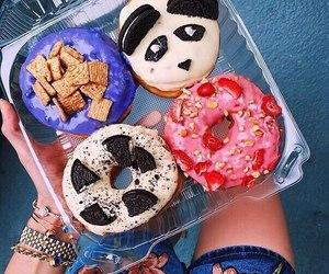 food, donuts, and panda image
