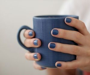 blue, nails, and cup image