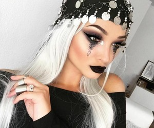 Halloween, makeup, and girl image