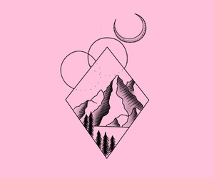 background, pink, and tattoo image