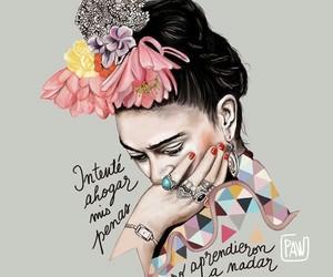 art, frase, and Frida image