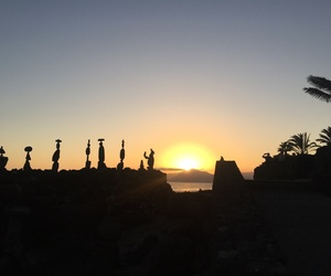 lanzarote, october, and sunset image