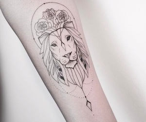 tattoo, arm, and lines image