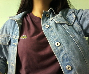 denim, girl, and lacoste image