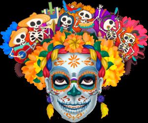 calavera, dia de muertos, and Halloween image