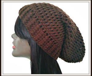 brown hat, etsy, and crochet beanie image