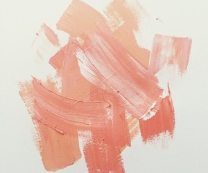 peach, paint, and aesthetic image