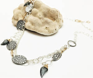 etsy, handmade jewelry, and silver necklace image