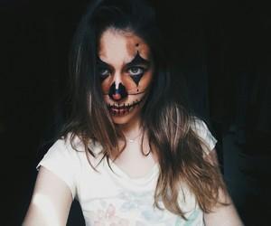 clown, costume, and Halloween image