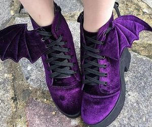 shoes, purple, and bat image