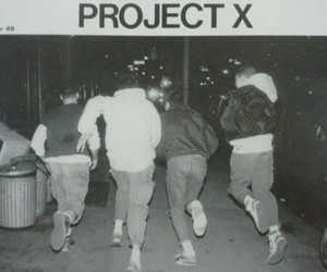 project x, black and white, and life image