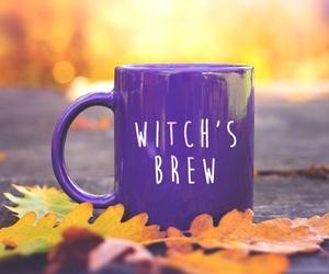 coffee, Halloween, and purple image