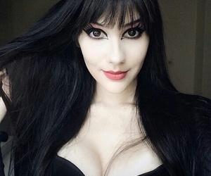 bangs, black hair, and brasil image