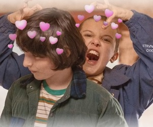 finn wolfhard, millie bobby brown, and mileven image