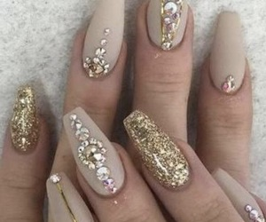 nails, beauty, and dorado image