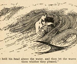 mermaid, quotes, and art image