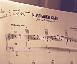 Guns N Roses, november rain, and music image