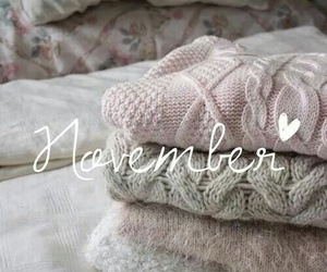 november, sweater, and autumn image