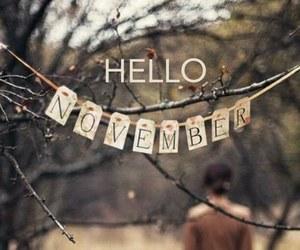 hello and november image