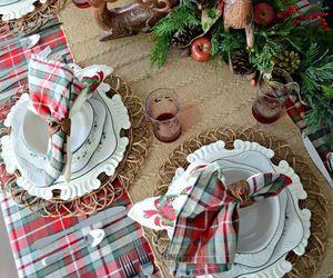 christmas, christmas tree, and christmas table image