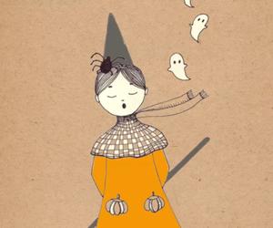fall, girl, and Halloween image