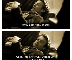 clock, quote, and Right image